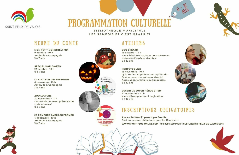 St-Félix-de-Valois/Programmation culturelle pour enfant 2021