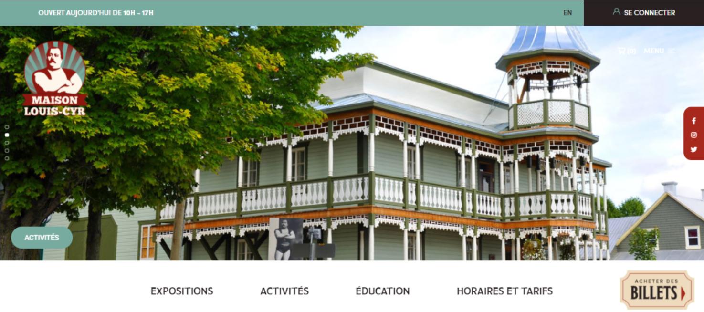 Maison Louis-Cyr/site web